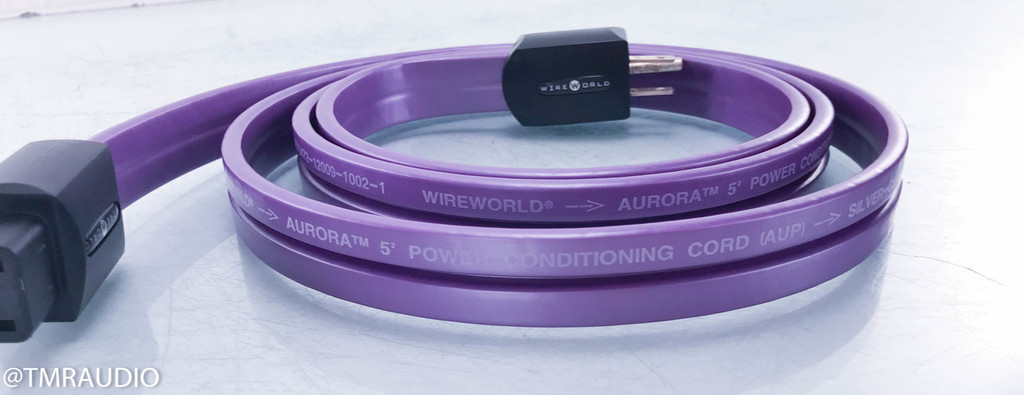 Wireworld Aurora 5.2 Power Cable; 2m AC Cord; 5 Squared (1/2)