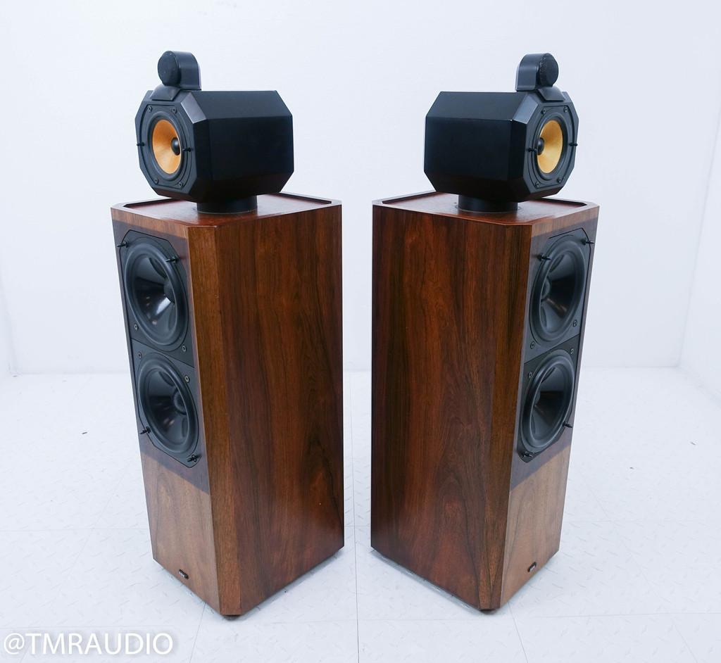 B&W Series 80 Model 802 Vintage Floorstanding Speakers; Rosenut Pair
