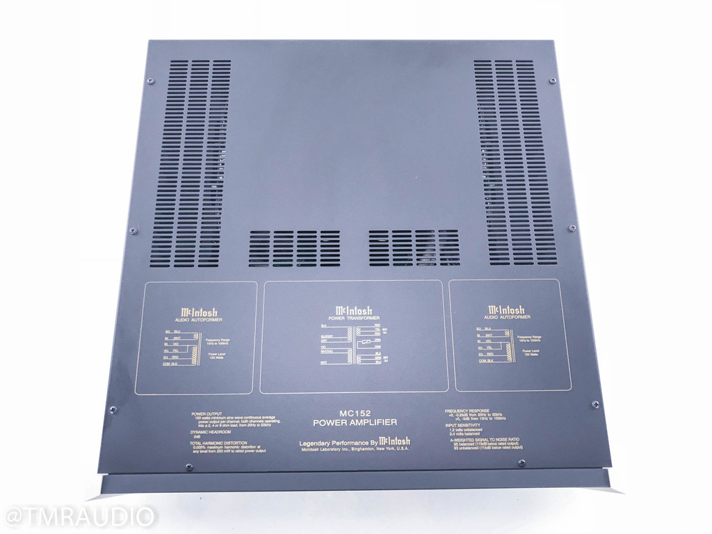 Mcintosh MC152 Stereo Power Amplifier; Mint Condition