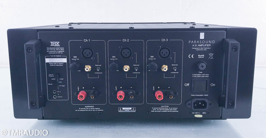 Parasound Halo A31 3 Channel Power Amplifier; A-31