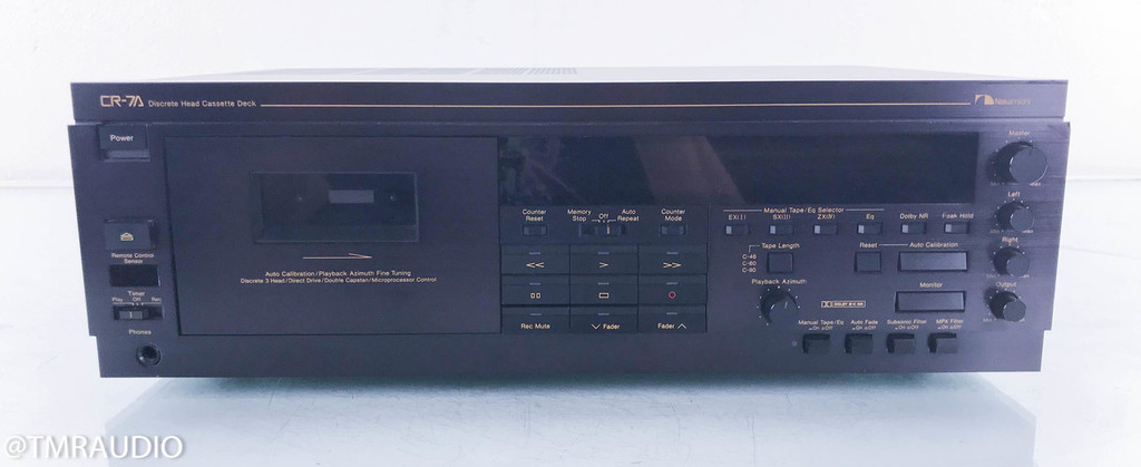 Nakamichi CR-7A Cassette Deck; Tape Recorder; Upgraded Gear Drive