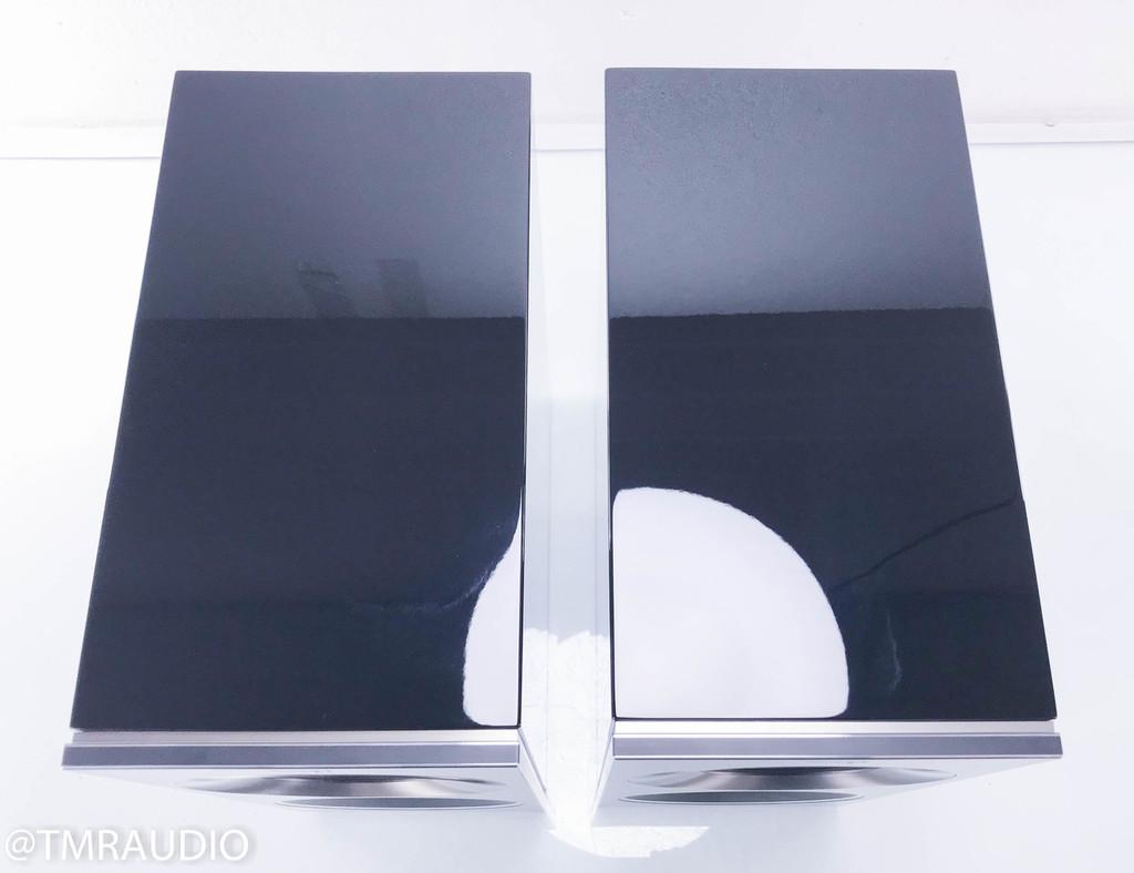 KEF Reference 1 Bookshelf Speakers; Piano Black Pair (Custom Blue Driver)