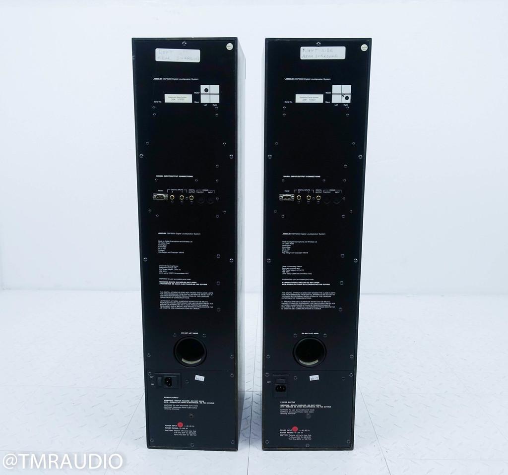 Meridian DSP 5000 Digital Powered Floorstanding Speakers; D5K; Rosewood Pair