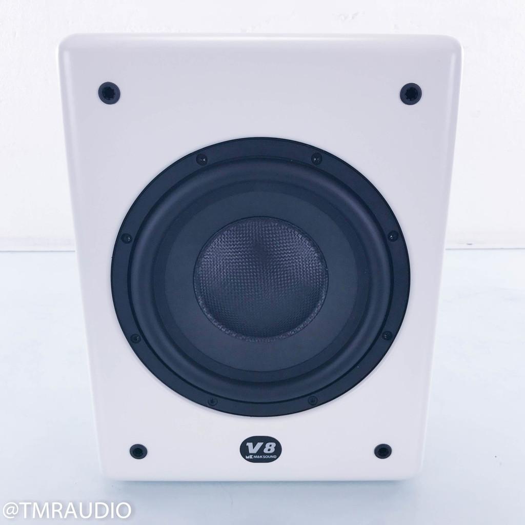 """M&K Sound V8 8"""" Powered Subwoofer; White"""