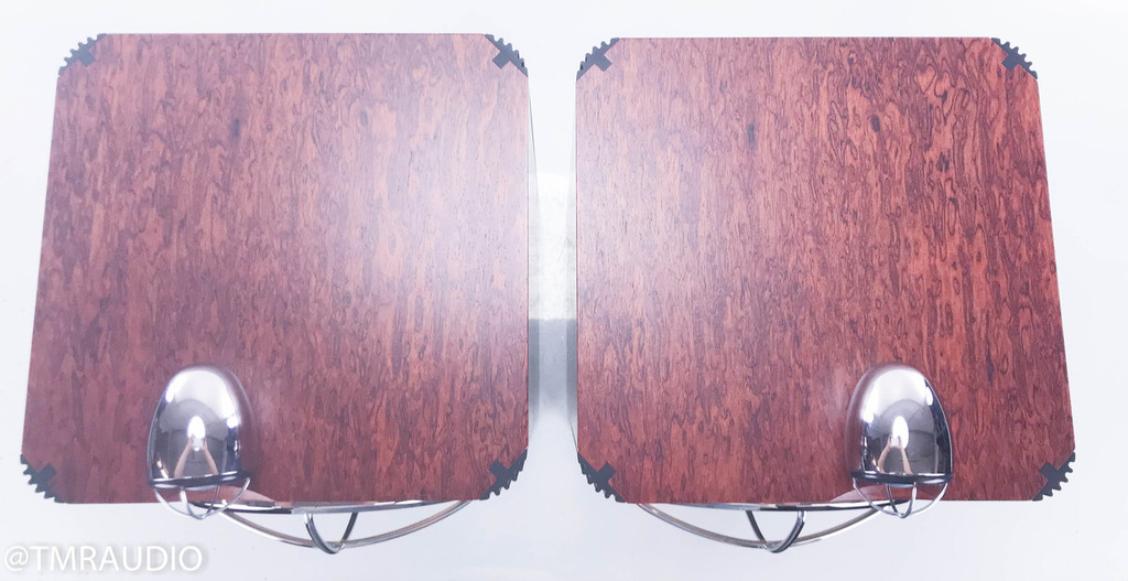 B&W John Bowers Silver Signature Bookshelf Speakers; Red Birdseye Pair