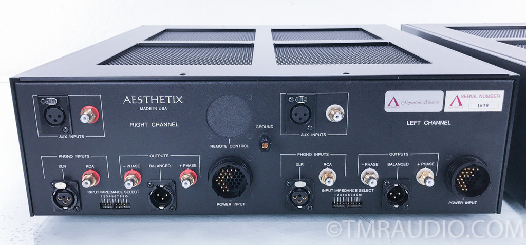 Aesthetix IO Eclipse Phono Preamplifier w/ Volume Option; Silver; New Tubes