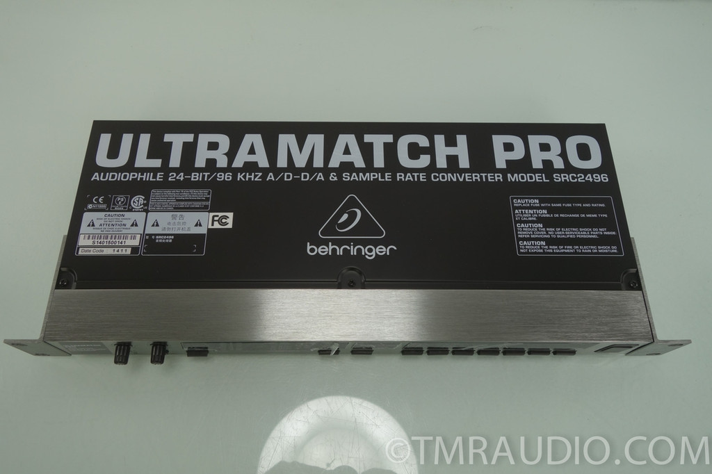 behringer ultramatch pro src2496 a d d a sample rate converter new in opened box the music room. Black Bedroom Furniture Sets. Home Design Ideas