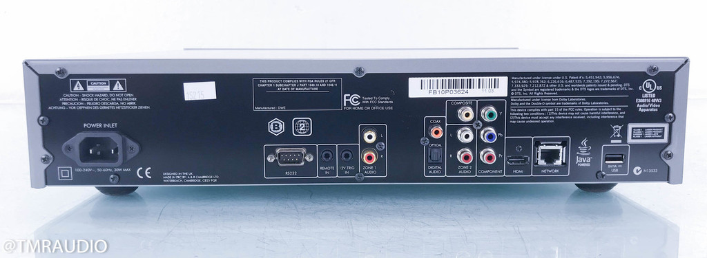 Arcam FMJ BDP100 Blu-Ray / CD Player; BDP-100; Remote