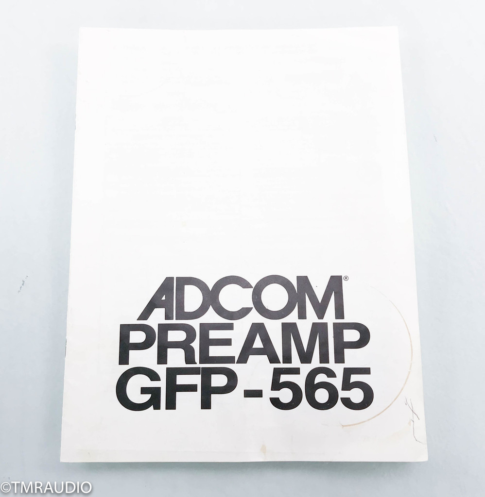 Adcom GFP-565 Stereo Preamplifier; GFP565; AS-IS (Left Output Not Variable)