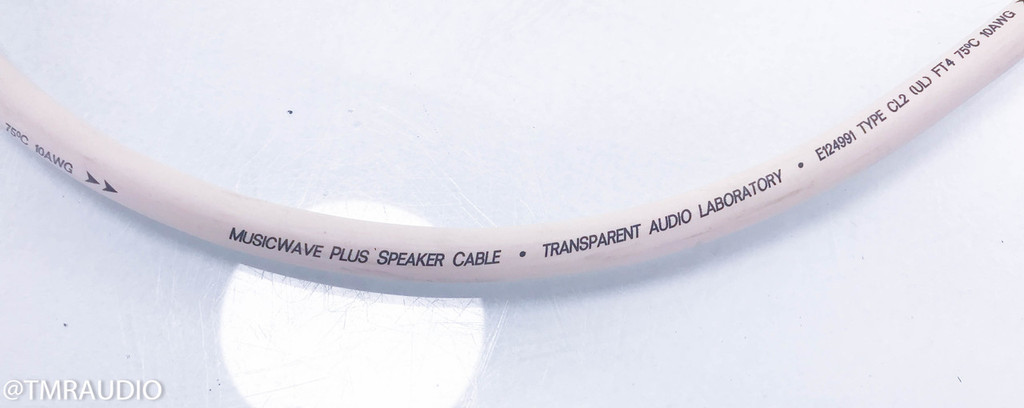 Transparent Audio MusicWave Plus Biwire Speaker Cables; MWPBW 8; 8ft Pair