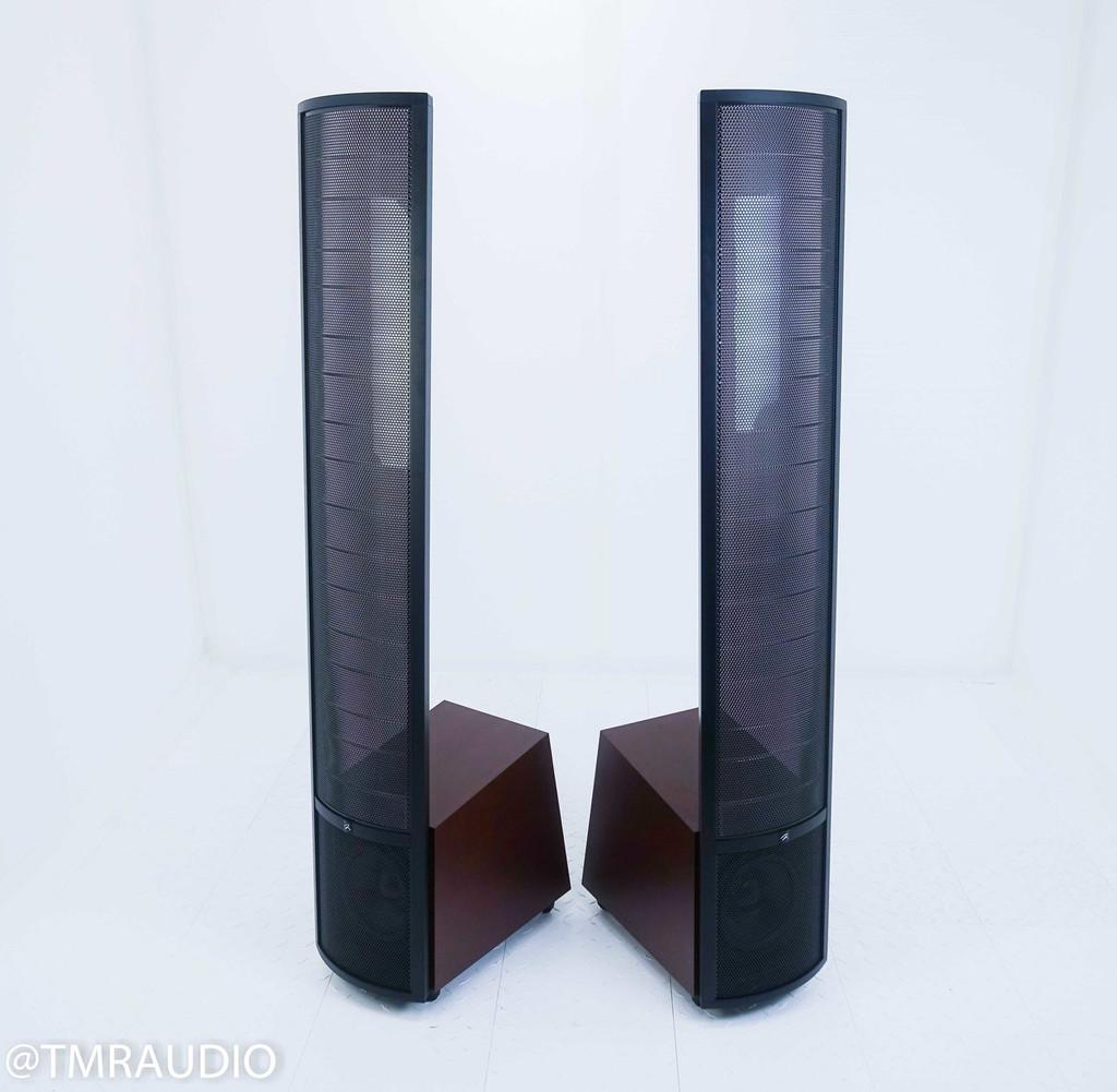 Martin Logan Ethos Electrostatic Floorstanding Speakers; Dark Cherry Pair