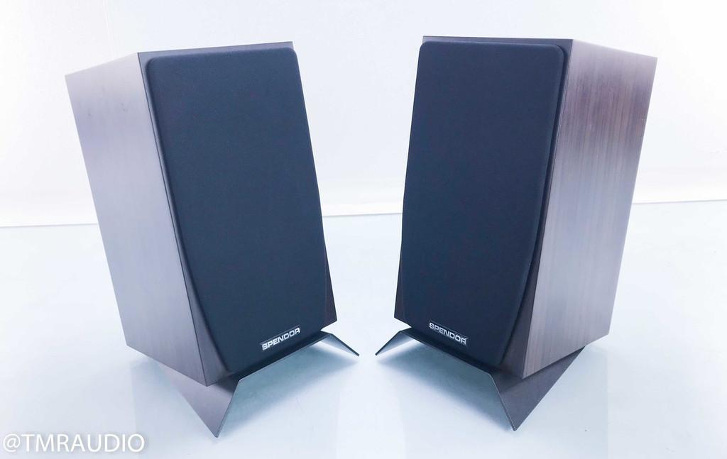 Spendor SA1 Bookshelf Speakers; SA-1; Wenge Pair w/ Desktop Stands