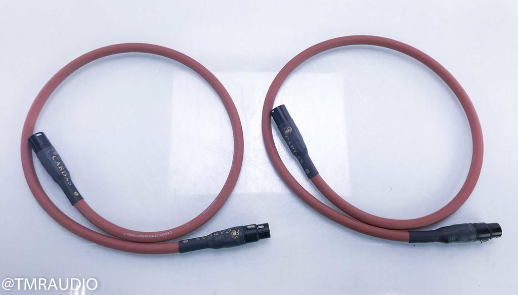 Cardas Cross XLR Cables; 1m Pair Balanced Interconnects
