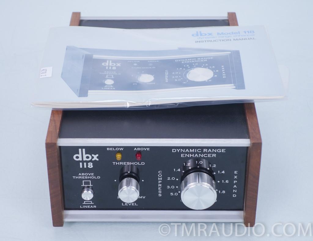 Dbx 118 Stereo Recording Dynamic Range Expander Compressor