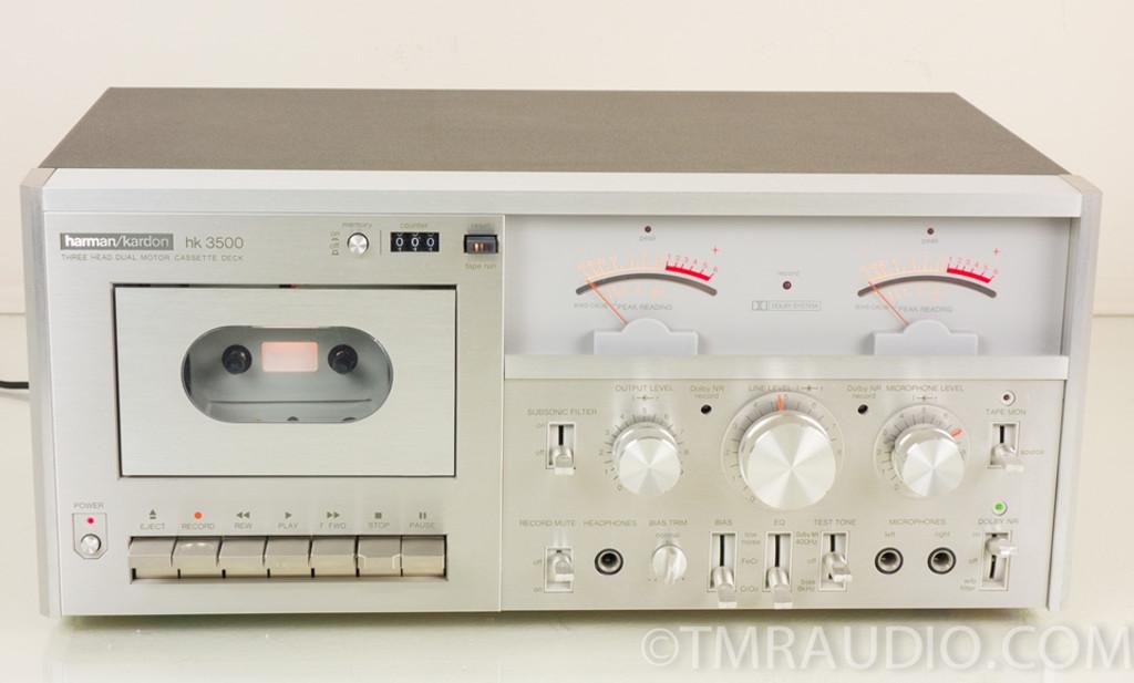 Harman Kardon Hk 3500 Vintage Stereo Cassette Deck Near