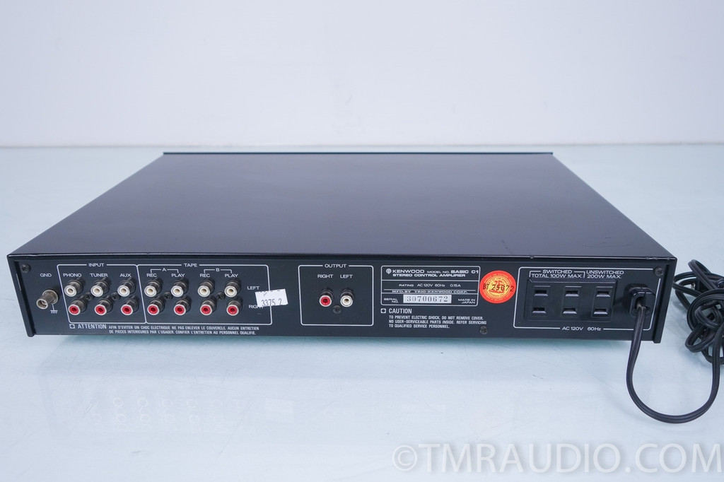 kenwood basic c1 stereo preamplifier    preamp  with phono