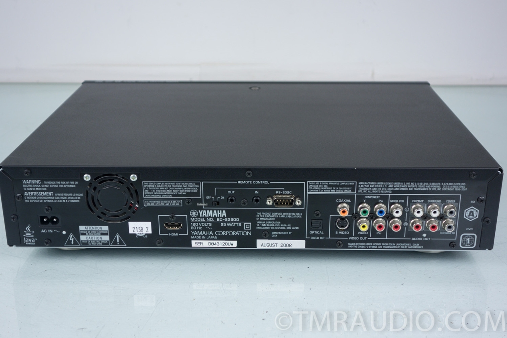 yamaha bd s2900 blu ray player the music room. Black Bedroom Furniture Sets. Home Design Ideas
