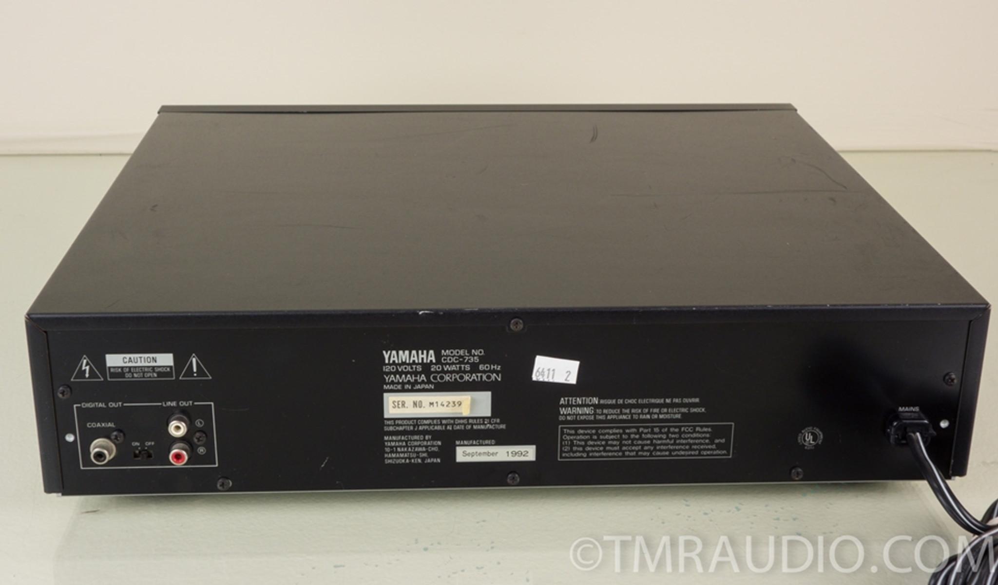 Yamaha Cdc 735 5 Disc Cd Changer Player The Music Room