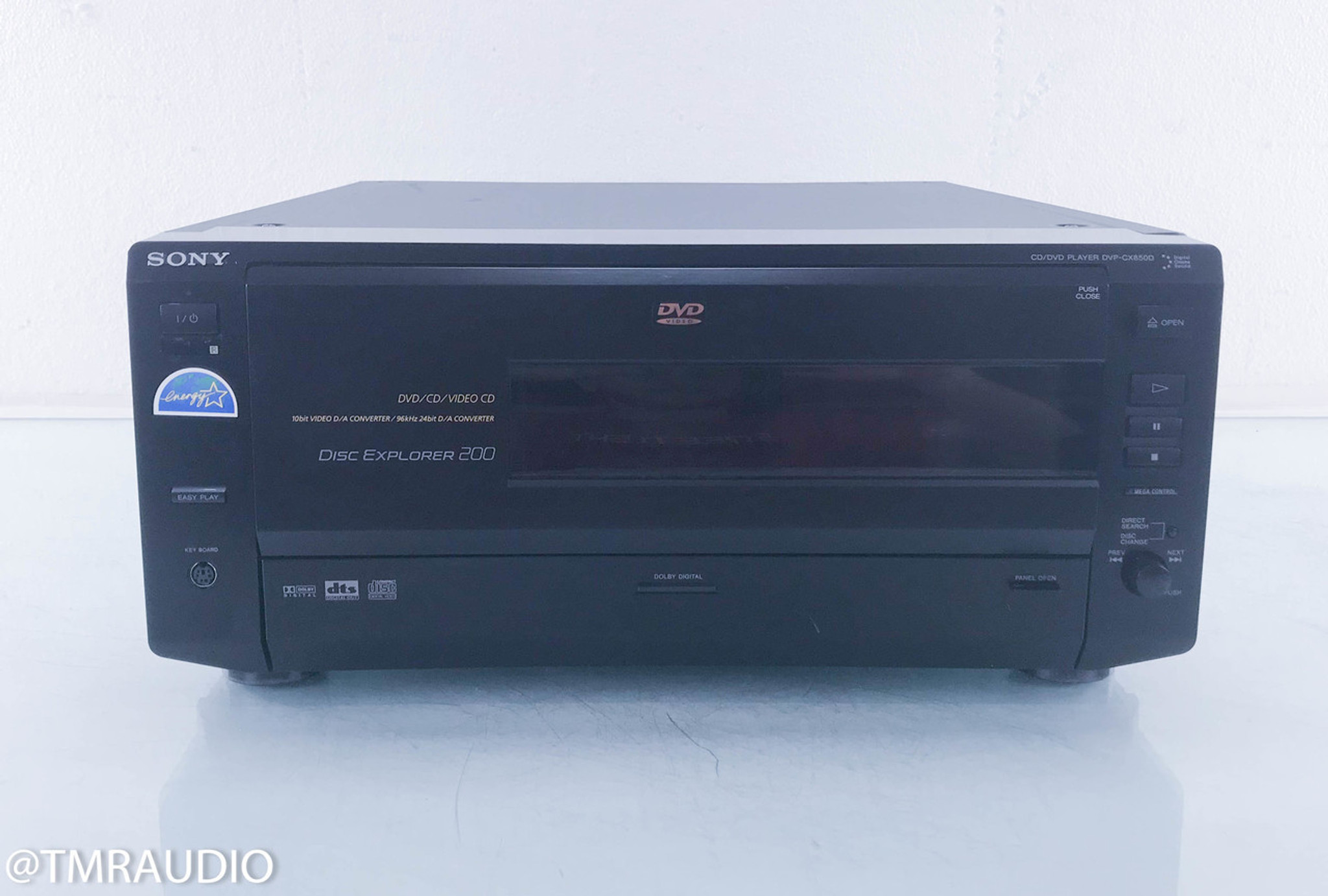 Sony DVP CX850D 200 Disc CD DVD Changer Player Remote Not