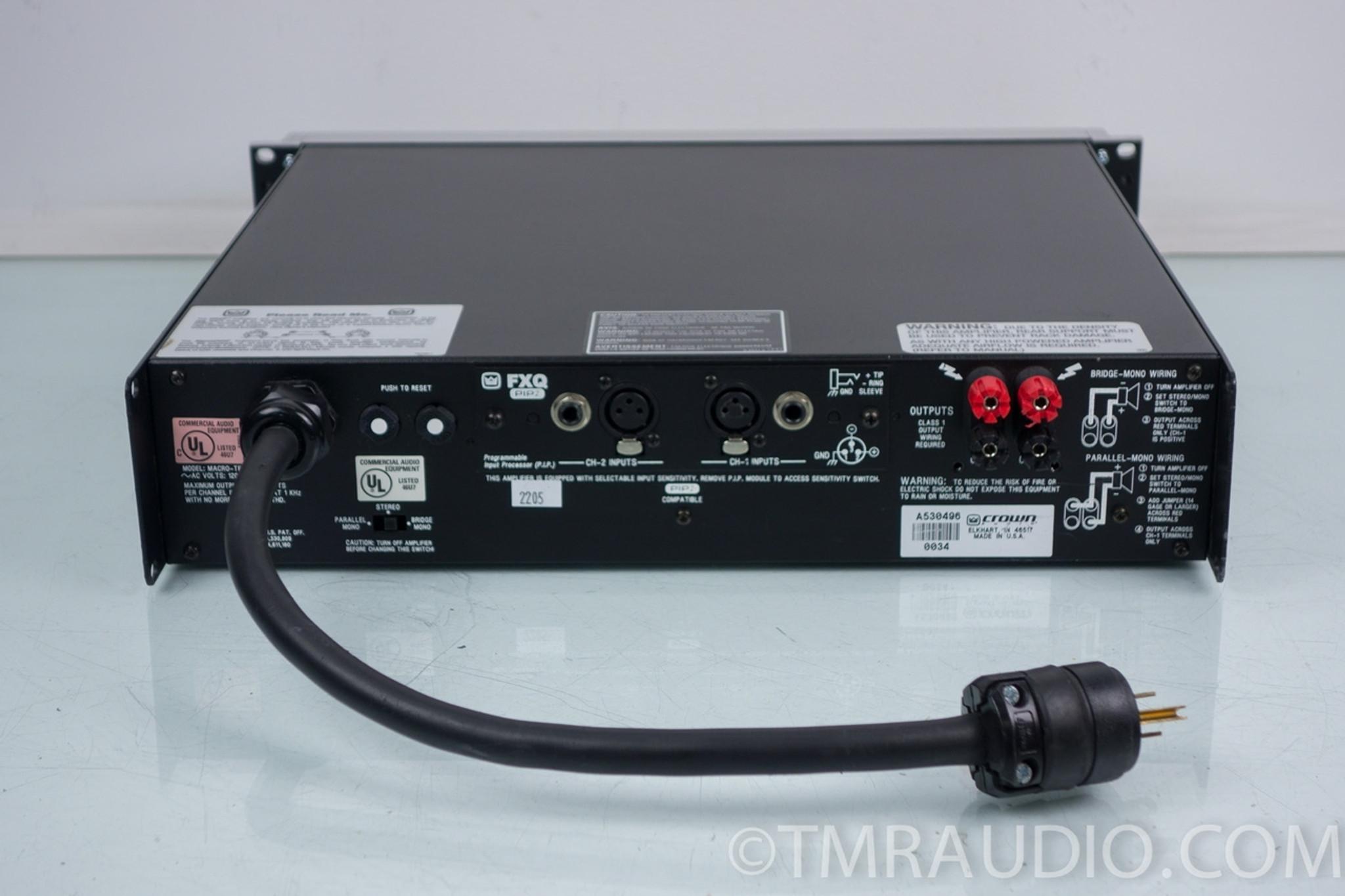 Power Amplifier Crown Macro Tech : crown macro tech ma 2402 power amplifier the music room ~ Russianpoet.info Haus und Dekorationen