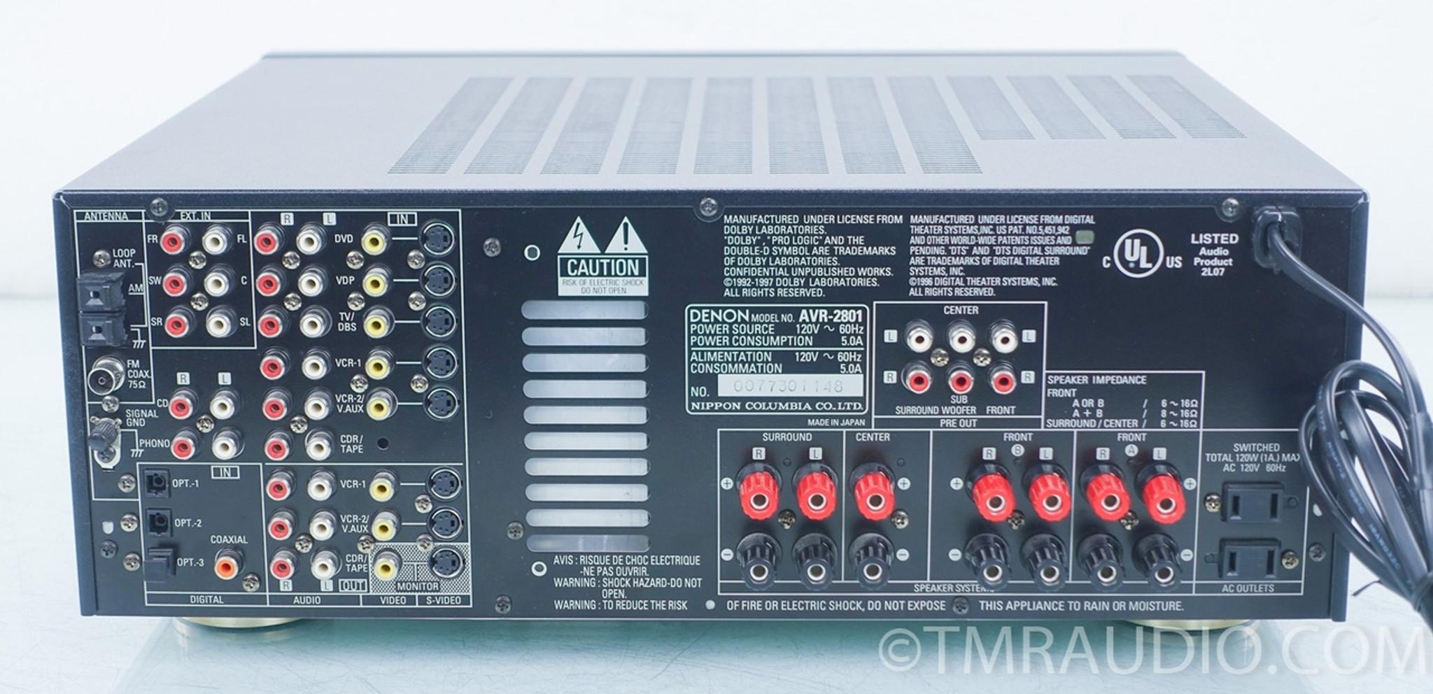 Denon AVR-2801 Home Theater Receiver