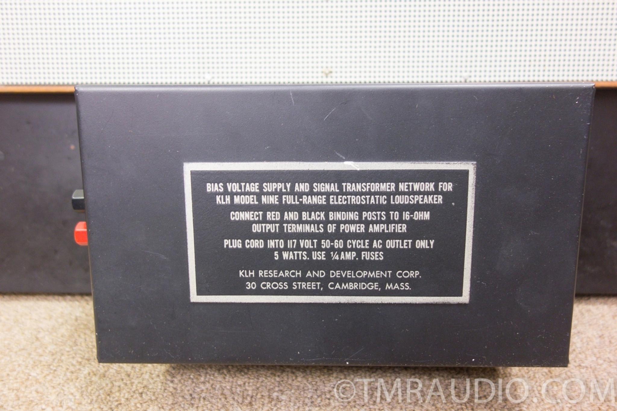 Klh Model 9 Vintage Electrostatic Speakers In Factory Box One Owner 60 Amp Fuse Stunning