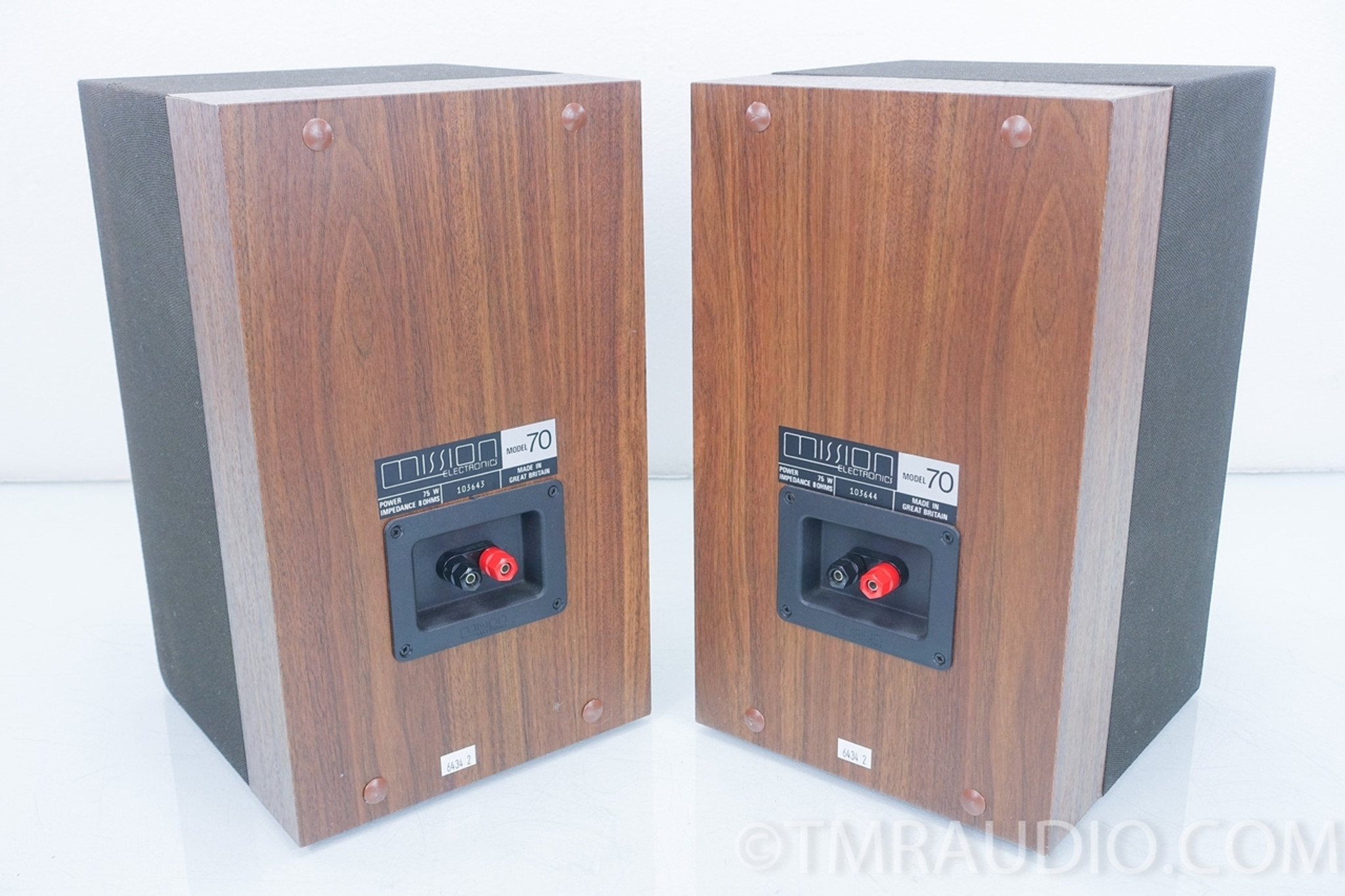 Mission Model 70 Vintage Bookshelf Speakers