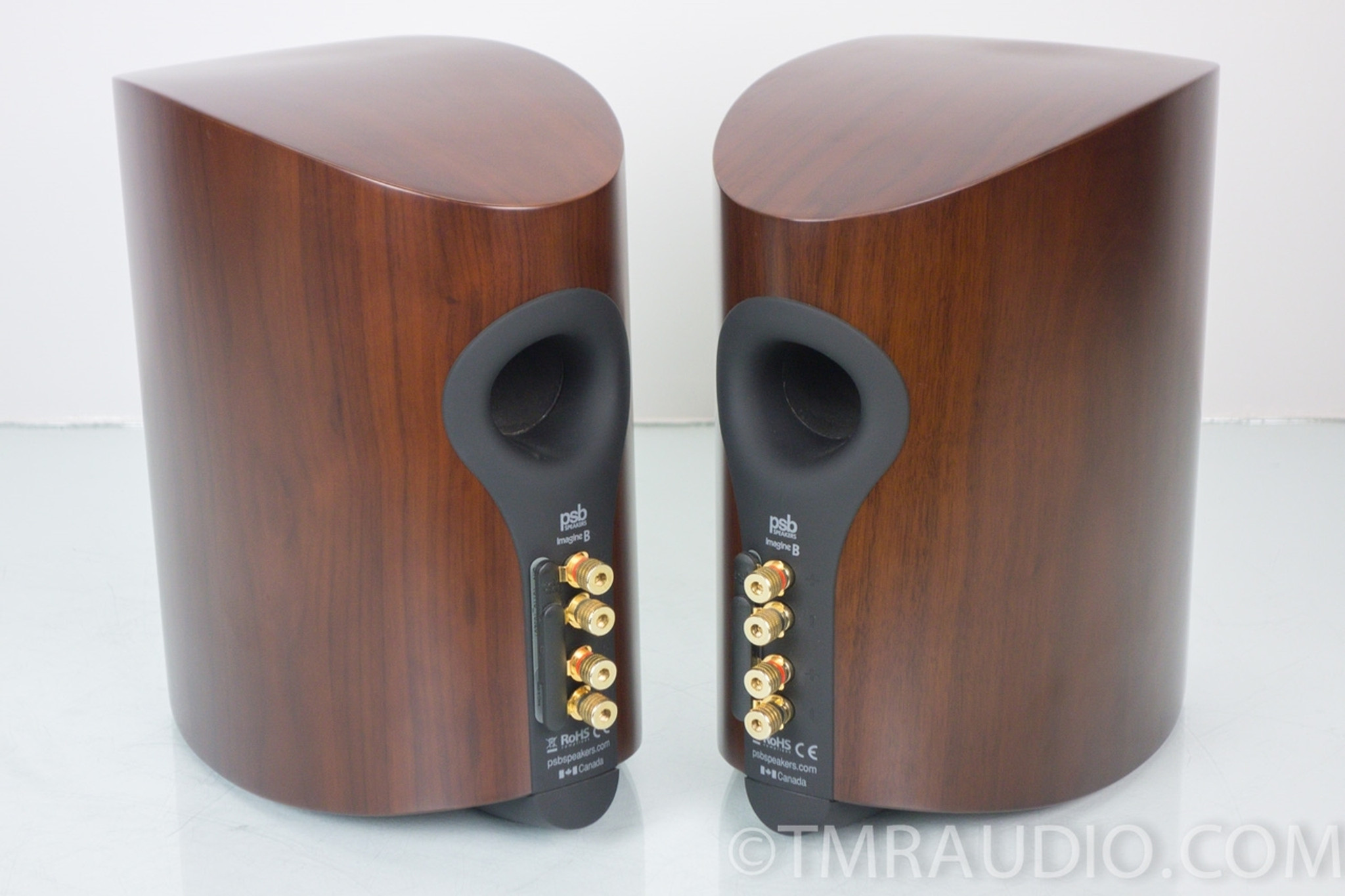 PSB Imagine B Bookshelf Speakers Excellent Walnut Pair In Factory Box