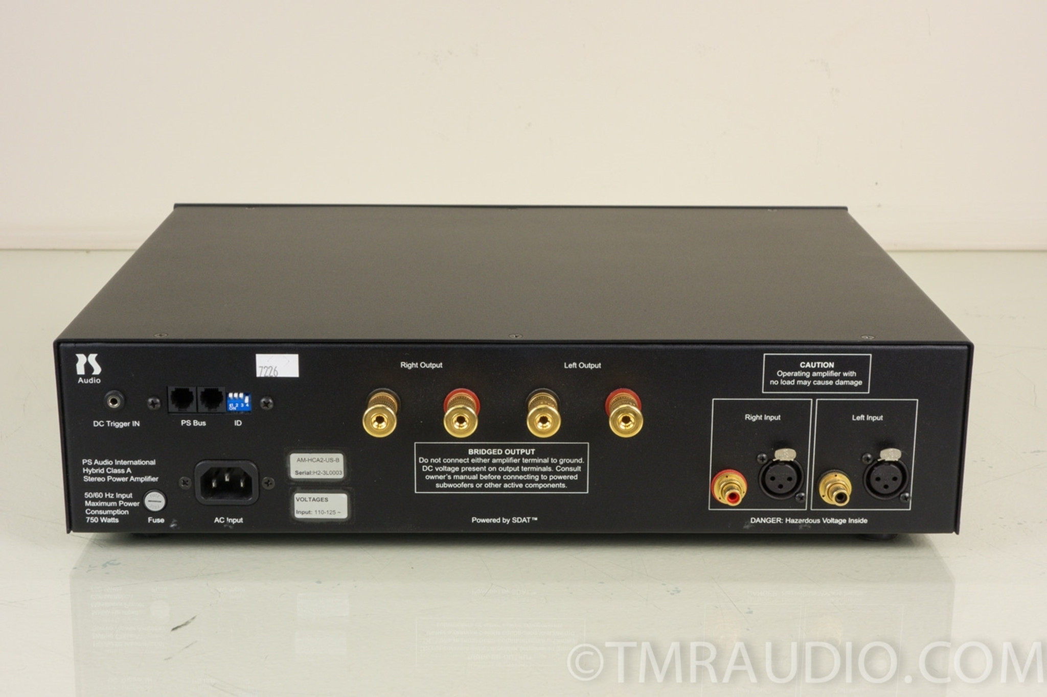 Ps Audio Hca 2 Stereo Power Amplifier Hybrid Class A Amp Black 50 Watts