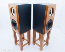 Viking Acoustics Briton Hybrid Studio Monitors; Cherry Pair; Stands; DC10Audio