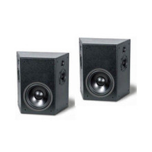 TruAudio PHT-SUR On-Wall Surround Speakers; Textured Black Pair; PHTSUR (New / Old Stock)