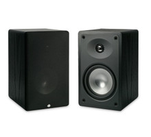 RBH MC-6C Bookshelf Speakers; MC6-C; Black Pair (New Old Stock)