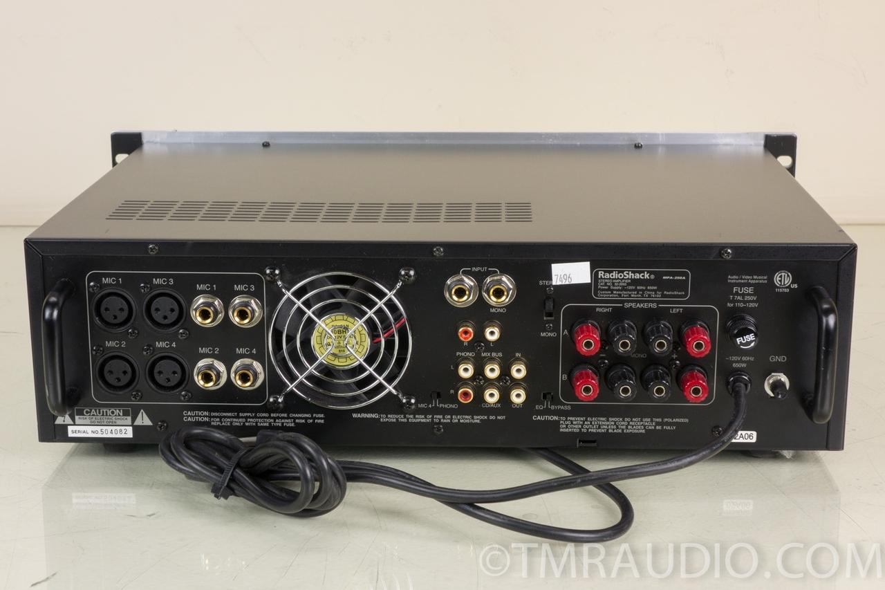 radio shack mpa 250a 250 watt stereo mono pa integrated amplifier rh tmraudio com Radio Shack Beat Amplifier Radio Shack Support