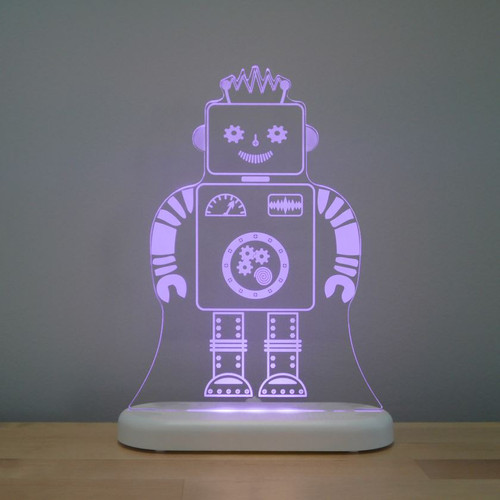 Aloka Lights Robot Night Light Purple