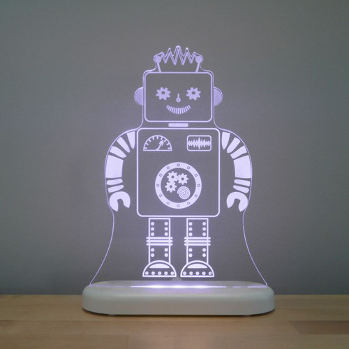 Aloka Lights Robot Night White