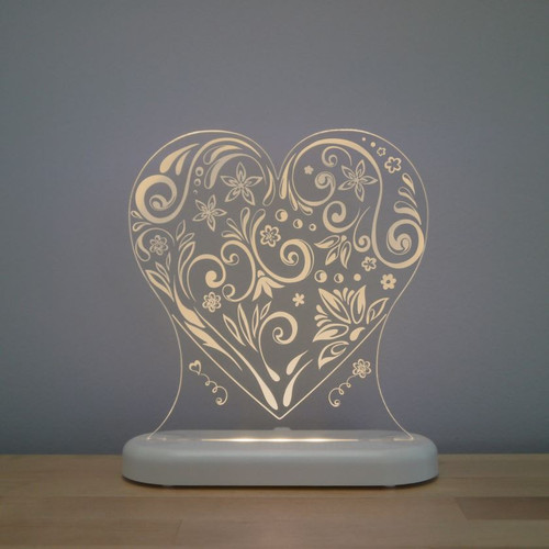 Aloka Night Light Heart Beige
