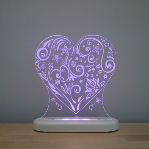 Aloka Night Light Heart Purple