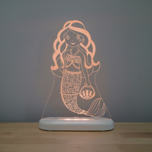Aloka Night Light Mermaid Orange
