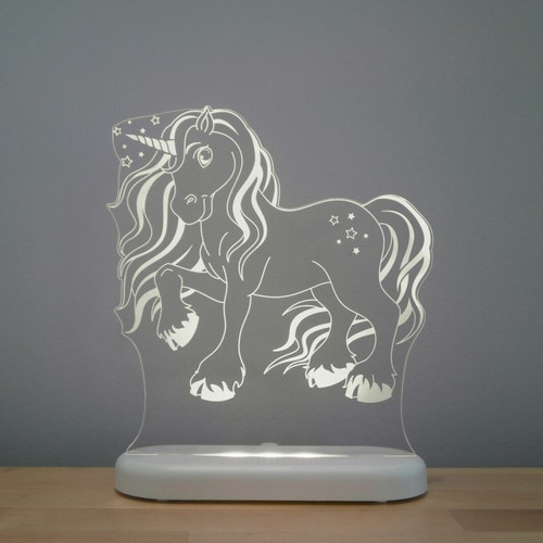 Aloka Lights Unicorn Night Light Grey