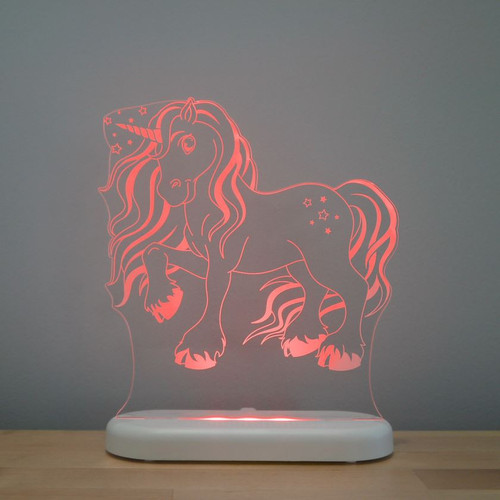 Aloka Lights Unicorn Night Light Red