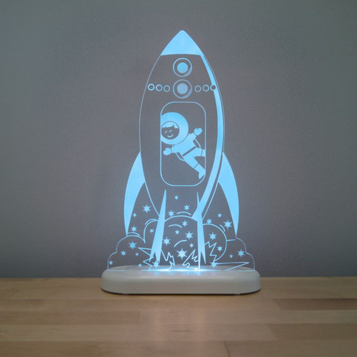 Aloka Night Light Rocket Aqua Blue