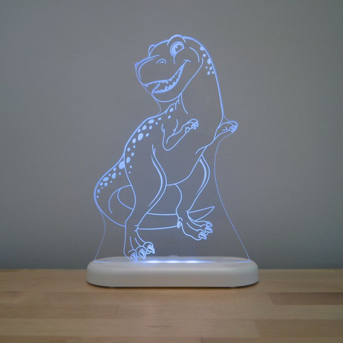 Aloka Night Light T Rex Dinosaur  Blue
