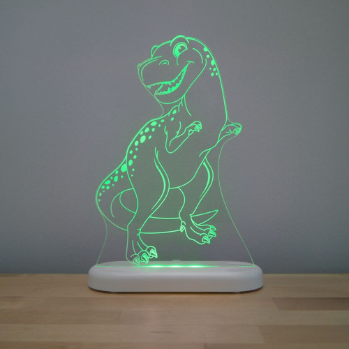 Aloka Night Light T Rex Dinosaur Green