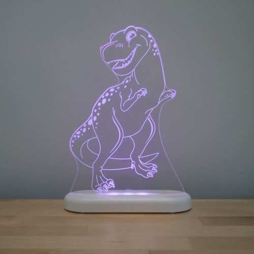 Aloka Night Light T Rex Dinosaur Purple