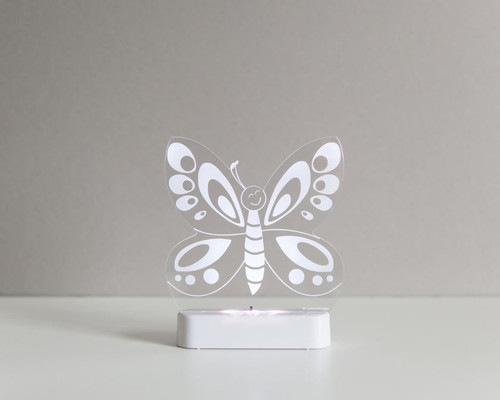 Aloka Night Light Butterfly White