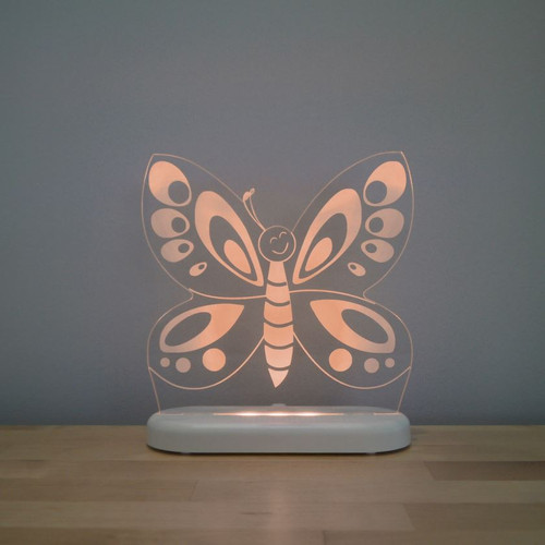 Aloka Night Light Butterfly Orange