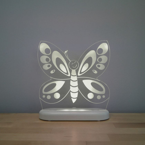 Aloka Night Light Butterfly Grey