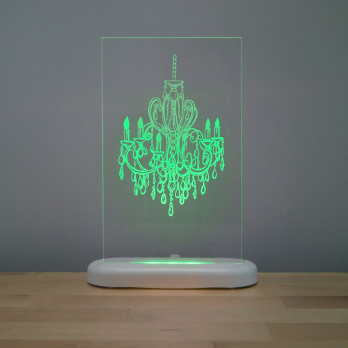 Aloka Slim Lights Chandelier Green