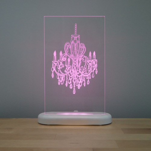 Aloka Slim Lights Chandelier Pink