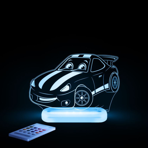 Aloka Night Light Racing Car Blue